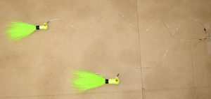Pop Eye Bucktail Tandem Rig